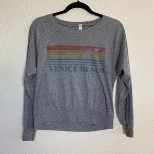 American Apparel: Venice Beach Gray Sweatshirt Sml